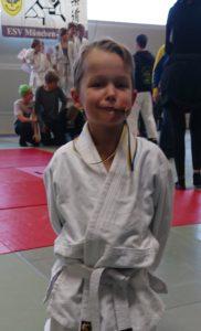 Der glückliche Medaillengewinner